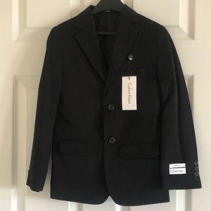 Boys Calvin Klein black 2 piece suit set size 8